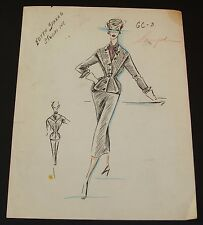 1940's Vintage Fashion Design Original Print #9 Edyth Sparag Studios
