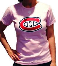 MONTREAL CANADIENS LADIES PINK COTTON TEE SHIRT by OLD TIME HOCKEY