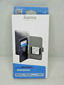Hama 177390  Universal Smartphone Booklet Schwarz Kunstleder Gr. XXL  (Me57)