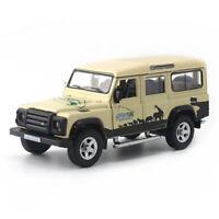 1:36 Land Rover Defender SUV Safari Die Cast Modellauto Spielzeug Sammlung Beige