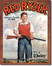 Vintage Replica Tin Metal Sign red ryder daisy air rifle bb gun shot boy 904