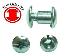 "Steel Zinc Combo Truss Head,Truss/Slot,Post Nut Screw - Open #10-24X1/4"" 25sets"