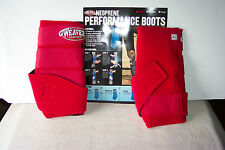 "Weaver Neoprene Performance Boots Size Small Red New 10"" Around 10.25"" Height"