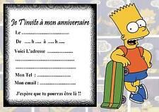 5 cartes invitation anniversaire  simpson   01  d'autres articles en vente !!!
