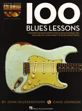 100 Blues Lessons Guitar Lesson Goldmine Learn to Play TAB Music Book & CD