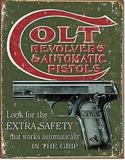 Colt Revolvers Extra Safety metal sign   (de)  Despatched in one day from UK