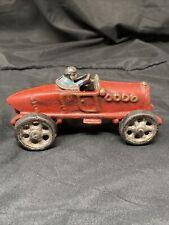 1920'S RACE CAR-CAST IRON REPRODUCTION-RED-TM 104- AUTHENTIC MODELS-MINT-W/BOX !