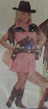 VESTITO CARNEVALE ADULTO COW GIRL RODEO  taglia M 44-46 cod.11044