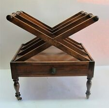 Rare Original English Regency X-Form Mahogany Canterbury c. 1820 antique