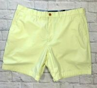 Mens Tommy Hilfiger Shorts Size 40 Summer Casual Classic Fit Yellow 100% Cotton