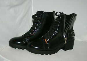 FOREVER 21 FAUX PATENT BOOTS NEVER USED NO BOX SIZE 9