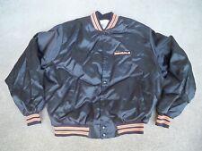 Vintage Cincinnati Bengals NFL Satin Nylon Chalk Line Made in USA Jacket Coat XL