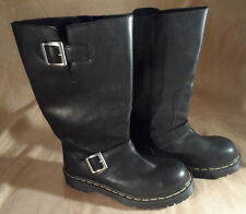 Dr. Doc Martens Tall Black Engineer Motorcycle Boots -- Mens UK 8 US 9 - England