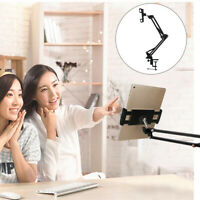 360° Rotating Lazy Bed Mobile Phone Pad Holder Mount Long Arm Stand Tablet