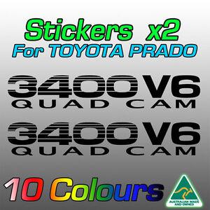 Toyota Prado stickers decals x2 for 3400V6  *Premium quality* by AustImages
