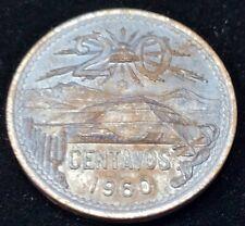 1960-Mo  MEXICO 20 CENTAVOS BU TONED COIN