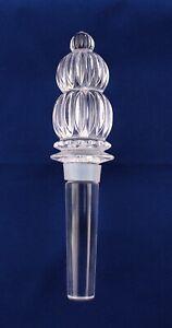 """Lead Crystal Clear Wine Bottle Stopper 5 1/4"""" L"""