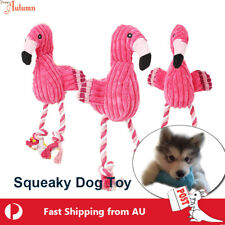 Dog Puppy Squeaker Flamingo Toy Plush Squeaky  Sound Chew Training Bite Play