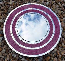 Fair Trade Large Pink Shimmer Mosaic Mirror