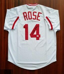 Pete Rose Autographed Signed Jersey Cincinnati Reds JSA