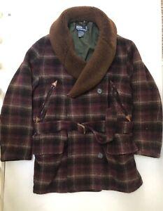 Men's Polo Ralph Lauren Shearling Collar Ranch Coatt - Size M - RRP £895