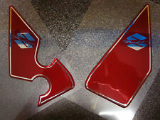 SUZUKI BANDIT TOP QUALITY DOMED RESIN HEEL PLATE PROTECTORS IN BURGANDY RED