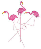 Flamingo Planter Stakes, Set of 3 by Maple Lane Creations