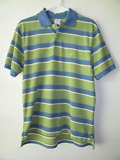 BROOKS BROTHERS Performance Polo Original Shirt Green Blue Stripe S Small EUC