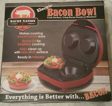 Bacon Nation Electric Bacon Bowl New in Box