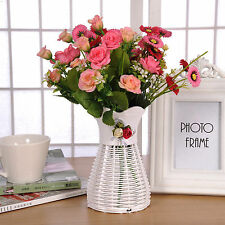 Artificial Rattan Vase Small Flower Fruit Candy Storage Basket Garden Party Deco