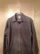 Brooks Brothers Blue Striped l/s 16-4/5 Non-IRON Original Polo All Cotton