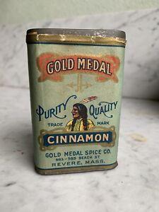 Rare Antique Gold Medal Cinnamon Spice Tin  Revere MA