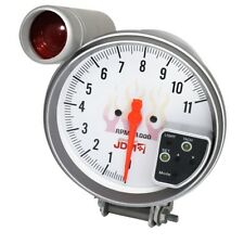 "5"" Inch 11K Rpm Tacho Tachometer Gauge Meter White 7 Color Display+ Shift Light"