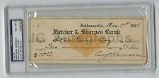 Benjamin Harrison - 23rd U.S. President - 1881 Autographed PSA/DNA Slabbed Check