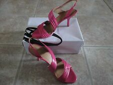 NWB NINE WEST Beaulah Women Leather Pink Ankle Strappy Sandals Shoes sz 9 M