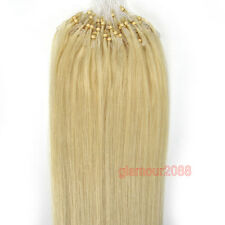 "16-26""Ombre Easy Loop Micro Rings Beads Remy Human Hair Extensions Straight 100s"
