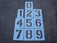 "12"" Plastic Number Stencils 1/8"" LDPE Parking Lot Striping Playground Games"