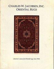 Charles W. Jacobsen Oriental Rugs 1990 India Pakistan Iran Turkey Afghanistan
