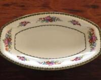 """Porcelain Serving Platter Union T Pun9 15 1/2"""" Floral Pattern"""