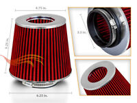 "3.5"" Cold Air Intake Filter Universal RED For Cherokee/Comanche/Commando/Compass"