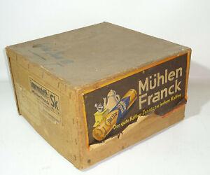 Alter Reklame Karton Kiste Mühlen Franck Kaffe Deko Laden Vintage 1930er Leerkar