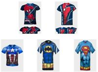 BOYS KIDS CHARACTER DC/MARVEL BATMAN AVENGERS SPIDERMAN SHORT SLEEVE T-SHIRT TOP