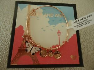 Alex and Ani MON AMIE BUTTERFLY Shiny Rose Charm Bangle New W/ Tag Card & Box