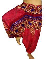 Sarouel Femme Pantalon Ethnique Aladin Harem Pant Aladdin yoga  rouge