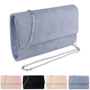 Women Suede Evening Clutch Chain Shoulder Crossbody Purse Bag For iPhone 12 Pro