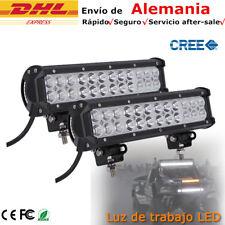2x 72W LED Barra de luz Luces de trabajo FOCO Offroad Proyector Jeep SUV 12inch