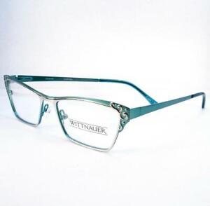 Wittnauer Darcie Silver Teal Eyeglasses Plastic Optical Designer 51-16-135