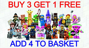 LEGO 71023 THE LEGO MOVIE 2 SERIES (PICK YOUR MINIFIGURE) BUY 3 GET 1 FREE!!