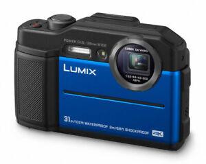 Panasonic Lumix DC-FT7 wasserdichte Digitalkamera FT 7  blau Demo-Modell