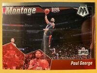 2019-20 Panini Mosaic Paul George Montage Insert #22 - MINT! WOW!! MUST SEE!!!